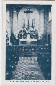 Altar, St Rose Catholic Church, Lima NY