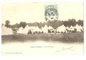 Vue De Tentes, Camp De Chalons (Isere), France, PU-1904