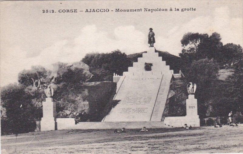 CORSE, France, 1900-1910's; Ajaccio, Monument Napoleon A La Grotte