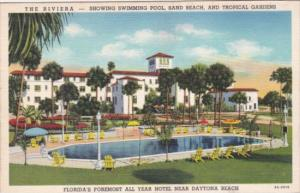 Florida Daytona The Riviera With Swimming Pool Curteich