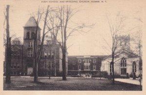 HOMER, New York, 1900-1910s; High School And Episcopal Church