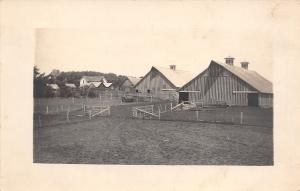 Anita Iowa~Chris Brown Farm~Farmyard Fences~Barns~House~1912 Real Photo~RPPC