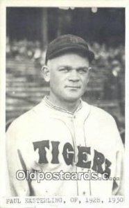 Paul Easterling Baseball Postcard Detroit Tigers Base Ball Postcard Post Card...