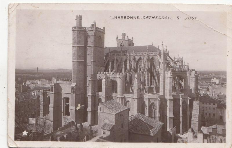 B79834 narbonne cathedrale st just france  front/back image