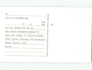 Pre-1980 RADIO CARD - Milford - Near Dover & Rehoboth Beach DE AH1008