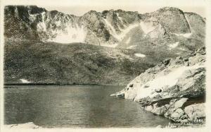 1920s Summit Lake Colorado Rocky Mountains RPPC Photo Postcard 4173