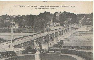 France Postcard - Tours - Le Pont De Pierre Et La Loire, La Tranchee  Ref 12734A