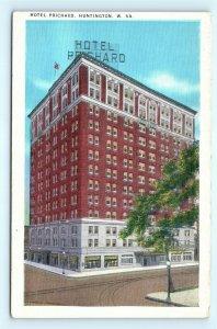 Postcard WV Huntington Hotel Prichard Vintage Linen J9