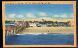Amusement Center Old Orchard Beach ME unused c1940's