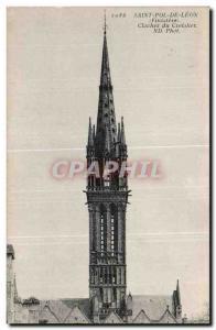 Old Postcard Saint Pol De Leon (Finistere) Bell Tower Creisker