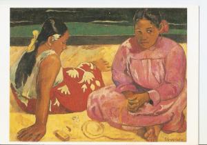Postal 042167 : Gauguin Paul. Femme de Tahiti ou Sur la plage