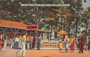 Salem New Hampshire Canobie Lake Park The Whip Vintage Postcard JE228383