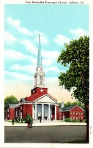 Pennsylvania Indiana First Methodist Church 1946 Curteich