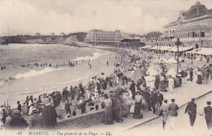BIARRITZ, Vue generale de la Plage, Aquitane, France, 00-10s