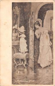 Glamour Vintage Fashion Clothing, Mother Daughter, Art Repro Co. 1912