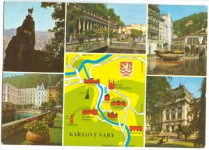 Czech Republic, KARLOVY VARY, used Postcard