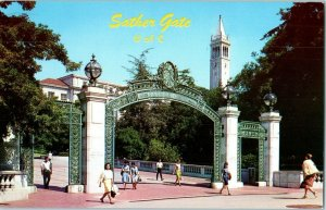Sather Gate UC Berkley Cal California Postcard 1971