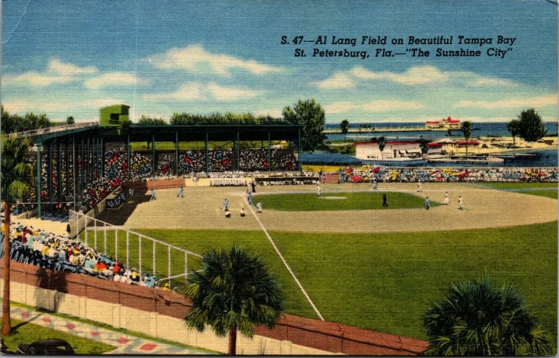 1930s Al Lang Field, St. Petersburg, FL -  Baseball's Winter Capital - Postcard