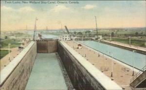 Welland Ship Canal Ontario c1940 Postcard #2