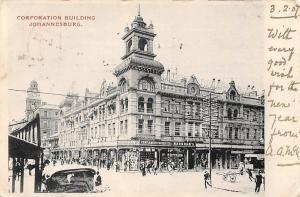 South Africa Johannesburg, Corporation Building Commerce 1907