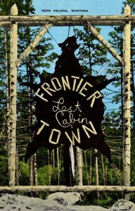 Montana Helena Frontier Town Entrance Sign
