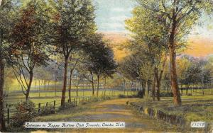 Omaha NE~At Sunrise, Go By Railing Fence on Rd to Happy Hollow Club Grounds~1909