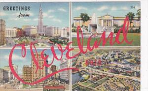 Ohio Greetings From Cleveland 1944 Curteich