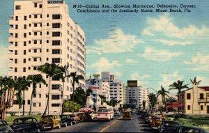 Florida Miami Beach Collins Avenue Showing Martinique Delmonico Coronet Casab...