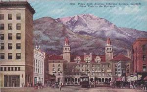 Colorado Colorado Springs Pikes Peak Avenue In The Distance