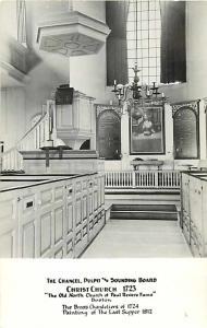 Chancel Pulpit & Sounding Board Christ Church North Church Boston Massachusetts