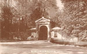 Blandford Dorset UK Eyesworth? Castle Lodge Gates~RPPC c1920