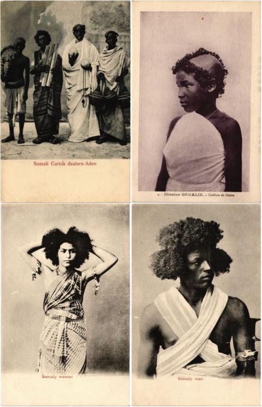 SOMALIA AFRICA 27 AFRIQUE CPA Vintage Postcards 1900-1920 period