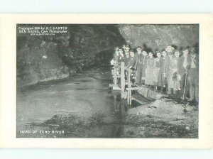 Divided-back ECHO RIVER UNDERGROUND IN CAVERN Mammoth Cave Park City KY AE6537