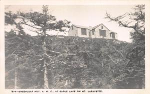 Greenleaf Hut, A.M.C., On Mt. Lafayette, N.H., Early Real Photo Postcard, Unused
