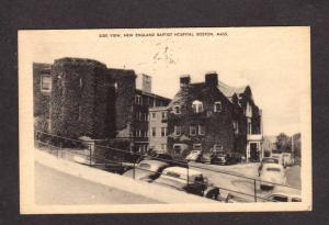 MA New England Baptist Hospital Boston Mass Massachusetts Postcard