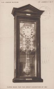1951 Great Victorian London Exhibition Clock Antique Postcard