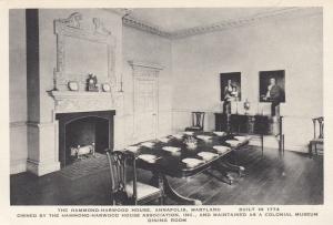 ANNAPOLIS , Maryland , 10s-20s ;  Dining Room, Hammond-Harwood House