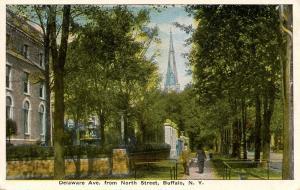 NY - Buffalo. Delaware Avenue from North Street