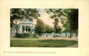 The Commons Bandstand and Electric Fountain Lynn MA Massachusetts - pm 1911 - DB