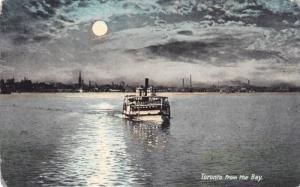 Steamer cruising the Bay at night, Toronto, Ontario, Canada, PU-1908
