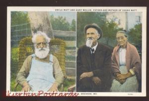 BRANSON MISSOURI SHEPHERD OF THE HILLS UNCLE IKE MATT AUNT MOLLIE POSTCARD