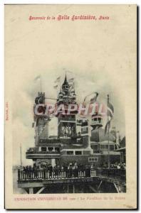Old Postcard Souvenir De La Belle Jardiniere Paris Universal Exhibition From ...