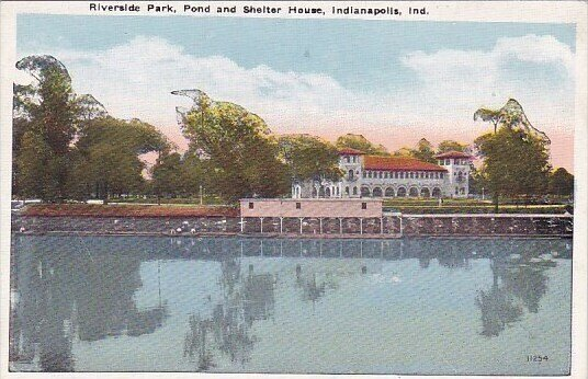 Riverside Park Pond And Shelter House Indianapolis Indiana