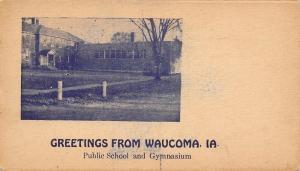 Waucoma Iowa~Public School~Gymnasium~1907 Postcard