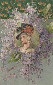 VALENTINE'S DAY, PU-1908 ; Victorian Woman