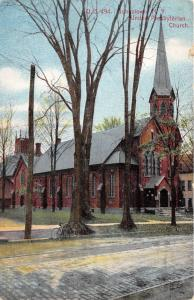 Johnstown New York~United Presbyterian Church~Bicycle Parked by Street~c1910 PC
