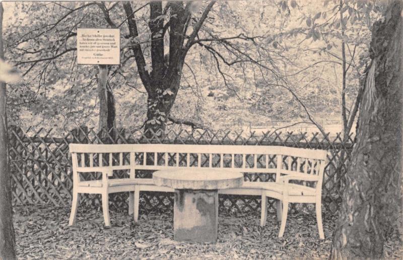 JENA  GERMANY SCHILLERTISCH~SCHILLER TABLE POSTCARD