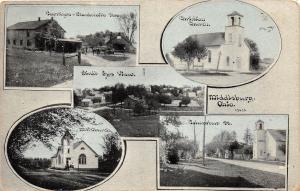 E31/ Middleburg Logan County Ohio Postcard c1910 5View Blacksmith Carriage