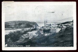 h2098 - CHICOUTIMI Quebec Postcard 1921 Panoramic View