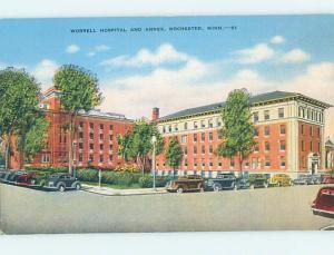Unused Linen HOSPITAL SCENE Rochester Minnesota MN J9366